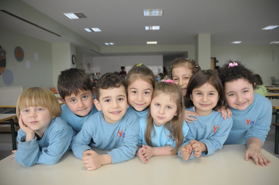Children at a Turkish day care