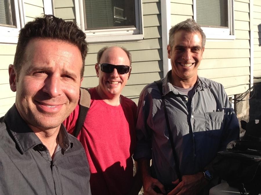 Food writer Steve Dolinsky, producer Clark Boyd, and host Marco Werman.