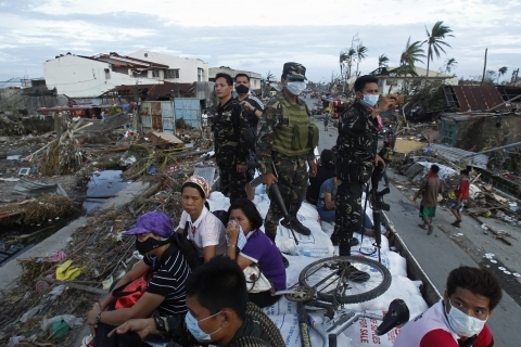 Typhoon Haiyan struck the central Philippines on Nov. 7