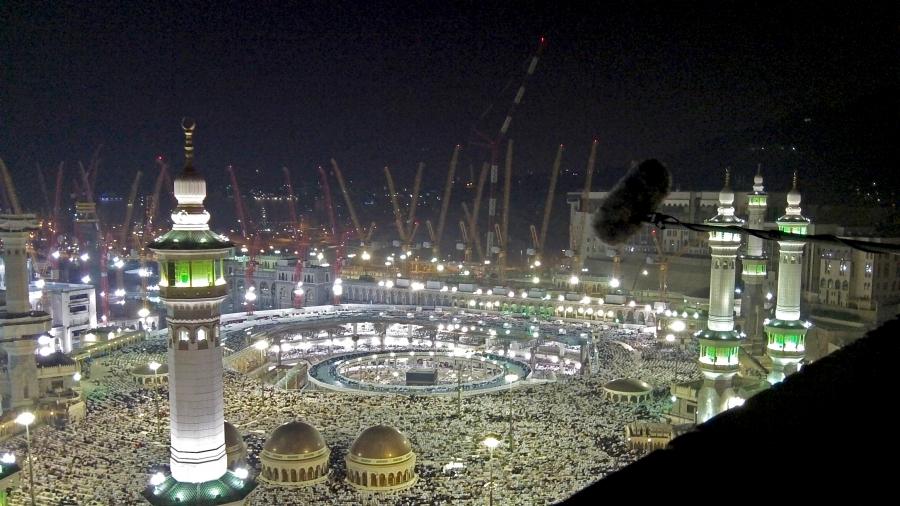 The Great Mosque in Mecca, Saudi Arabia.