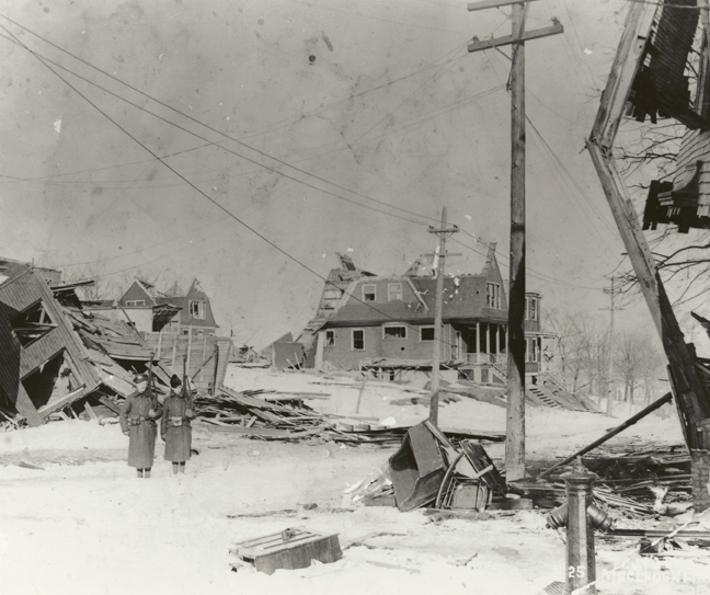 Schools, churches, factories and private homes were swept away by the force of the Halifax explosion, 1917.
