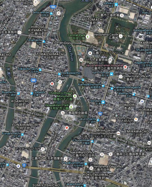 Hiroshima satellite map image today