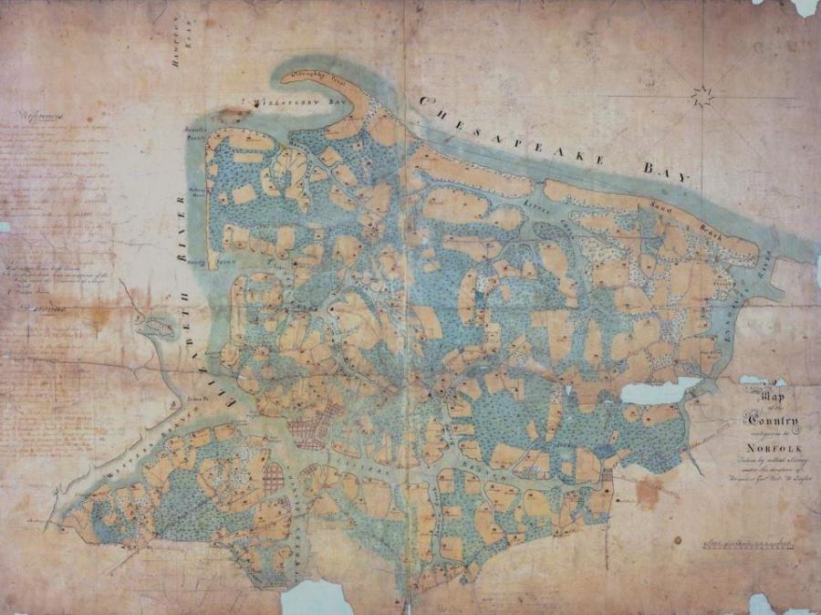 Historical map of Norfolk, Va., region
