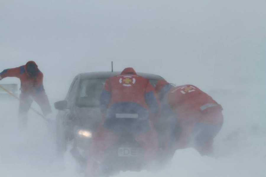 Driving during an Icelandic Winter storm is risky affair.