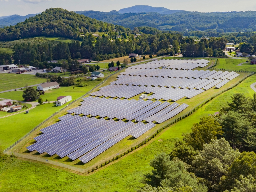 A solar farm built by Cypress Creek Renewables in Henderson, North Carolina. The solar industry's trade group, SEIA, estimates that 23,000 jobs this year will be lost or not created due to recent tariffs.