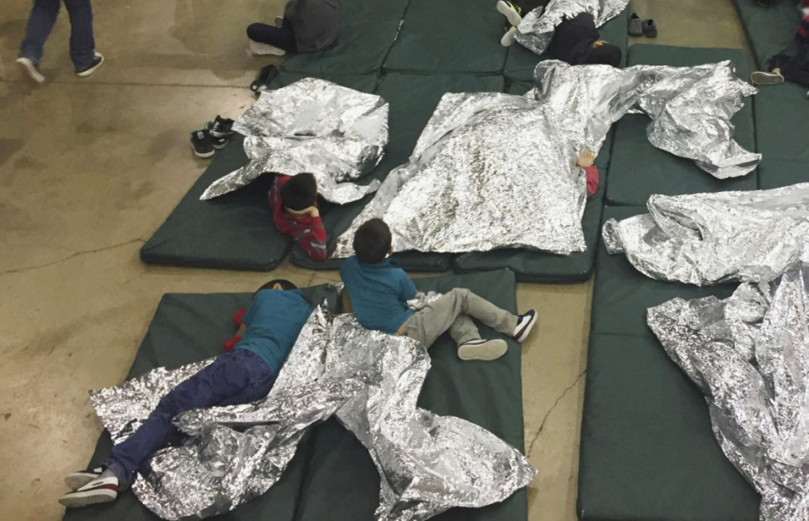 Children who've been taken into custody in cages