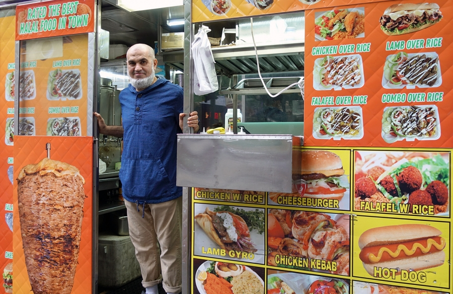 """Adel Saeed moved to the US from Egypt 41 years ago. He has owned and operated a halal food truck in New York City for 20 years. He says he will never break his fast, even he is offered """"millions and millions of dollars."""""""