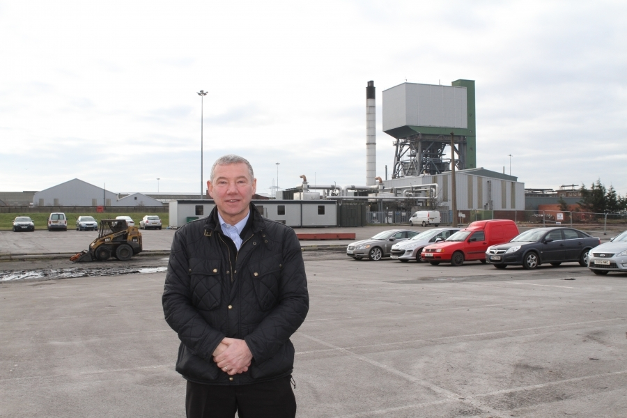 Shaun McLoughlin stands at the site of former Kellingley mine