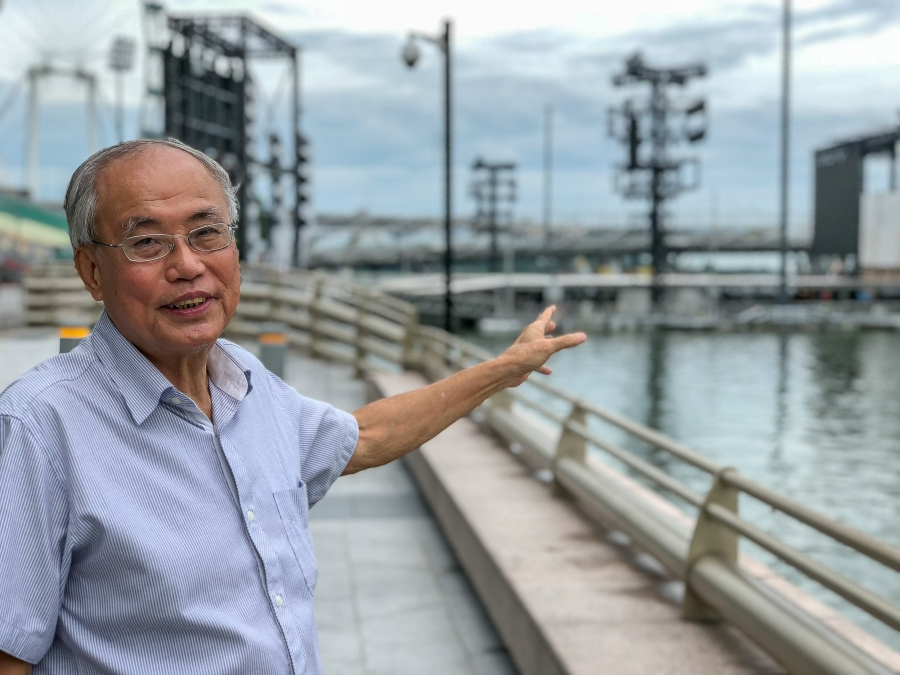"""It's becoming an embarrassment to Singapore that we are importing so much sand at the expense of our neighbors,"" says Singaporean engineer Lim Soon Heng. His company promotes a less sand-intensive method for creating new land."