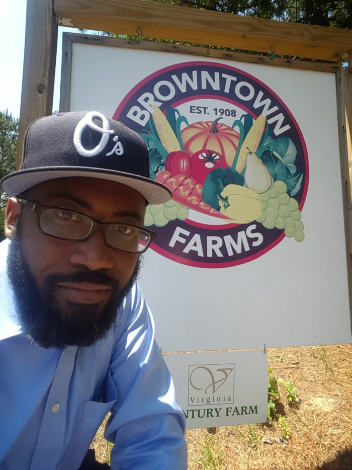 Heber Brown during a tour of Browntown Farms.
