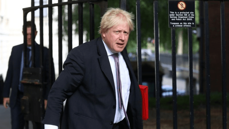 british secretary of state for foreign affairs boris johnson resigned from his post today