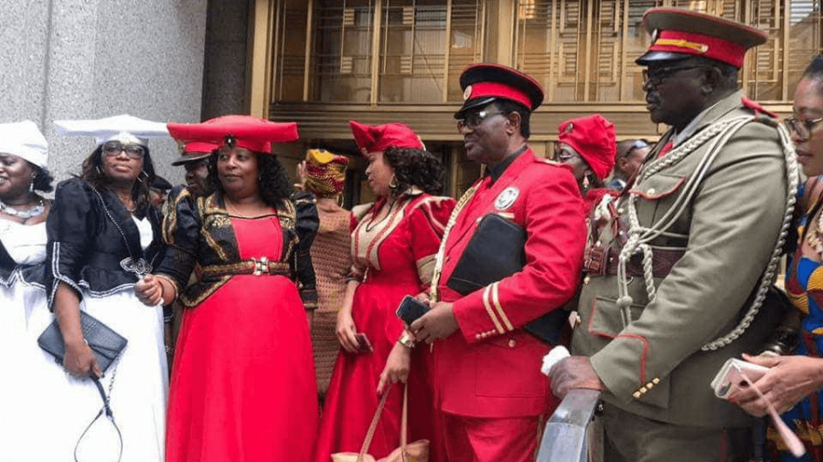 Namibian citizens protest in New York