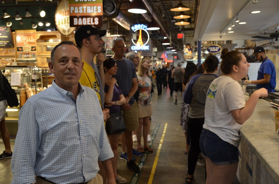 Michael Strange, owner and president of Bassetts, at his shop in Philadelphia's Reading Terminal Market. Strange is the great-great grandson of the company's founder.
