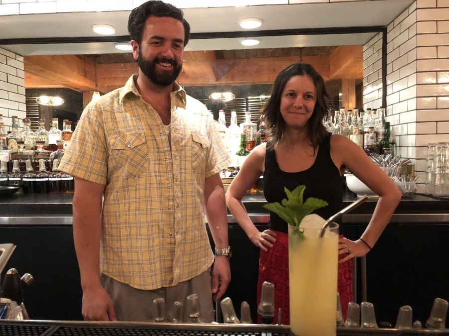 Stainless steel straws are now served with cocktails at Alden & Harlow in Cambridge, Massachusetts. Daniel Pontius and Jen Fields say the reusable straws will save the restaurant some money, but the primary motivation to switch was helping the environment