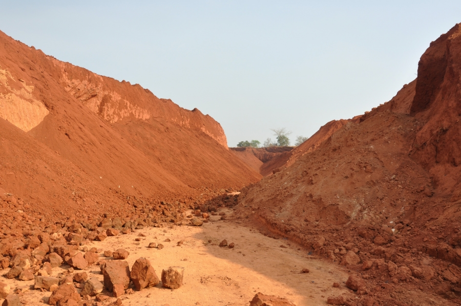 This mining site in Ngoe Ngoe Village, East Cameroon, was abandoned by Chinese mining operators. Nine villagers seeking gold at night died there last year.