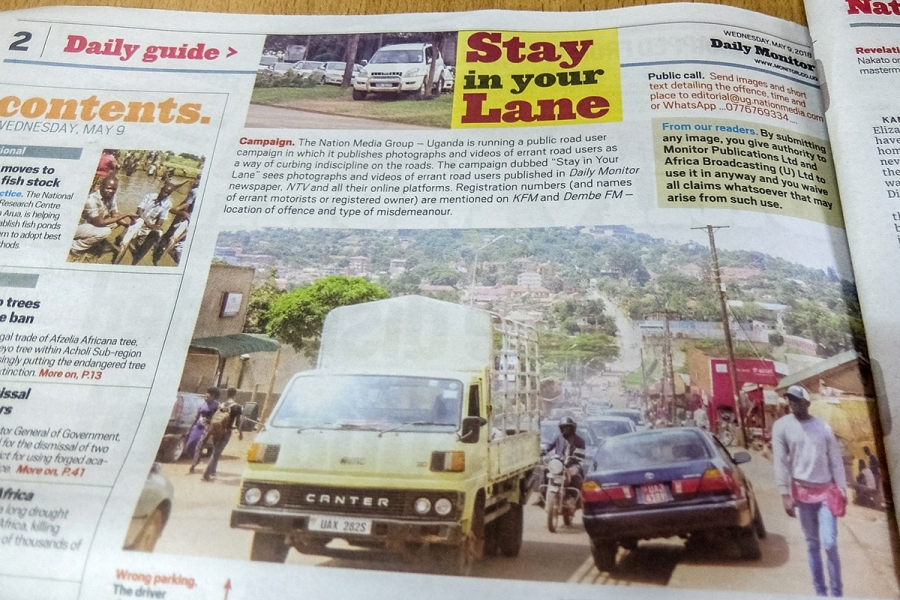 In addition to publishing photos of bad drivers, the Nation Media Group will post traffic rule reminders through a driver education campaign.