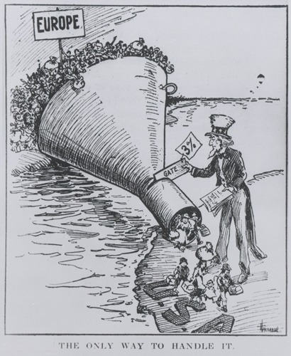 Cartoon of many people going through a funnel that says 3% with Uncle Sam at the end
