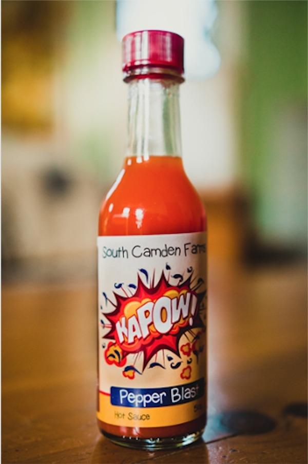 a bottle of kapow! hot sauce