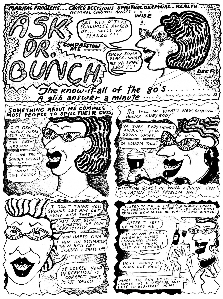 "From ""Love That Bunch"" by Aline Kominsky-Crumb"