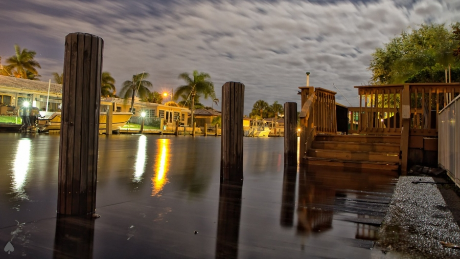 Growing high tides have turned this photo — taken from Pompano Beach, Florida, after Hurricane Sandy in 2012 — into a regular occurrence along the U.S. coastlines.