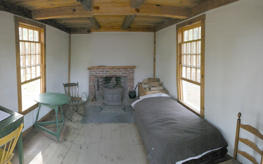 Inside of the Henry David Thoreau's cabin