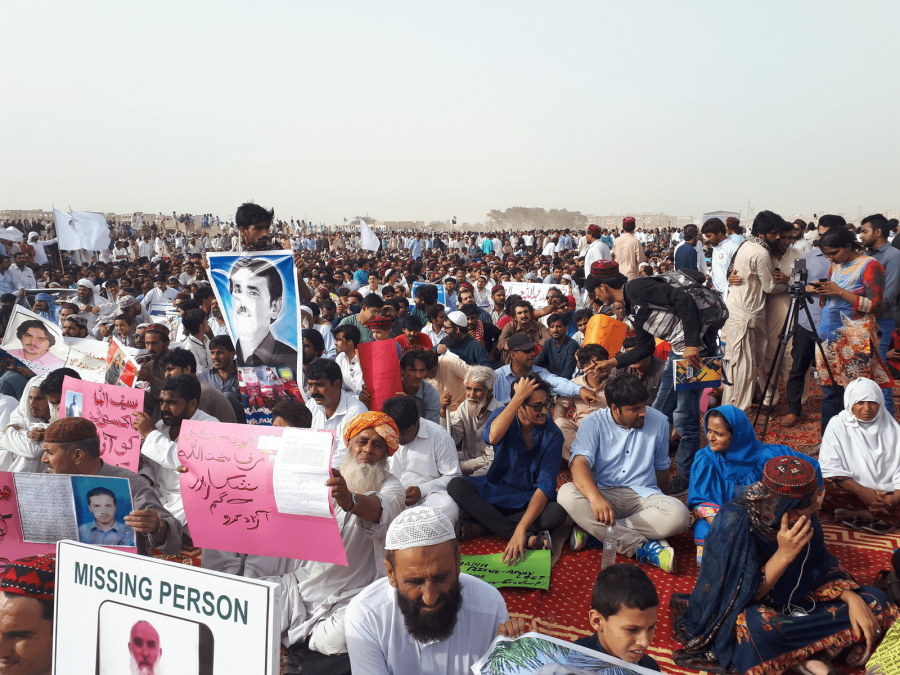 a protest in Karachi, pakistan