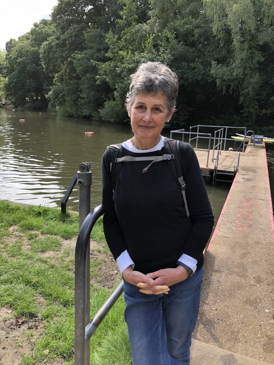 Nicky Mayhew is the co-chair of the Kenwood Ladies' Pond Association