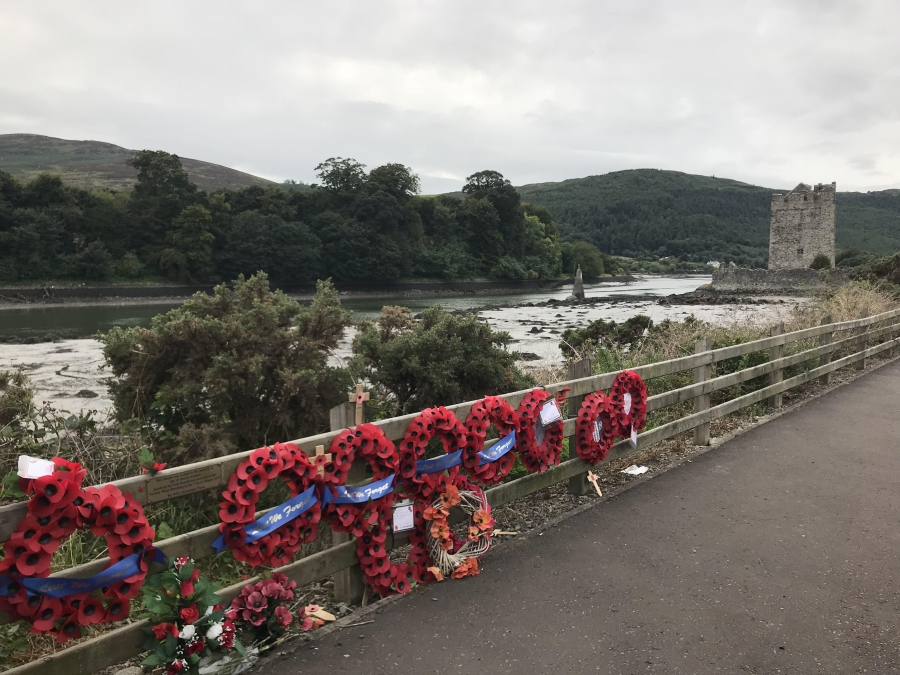 Wreaths left at the scene of the 1979 Provisional IRA bombing of a British Army convoy in Warrenpoint. 18 soliders and 1 civilian were killed