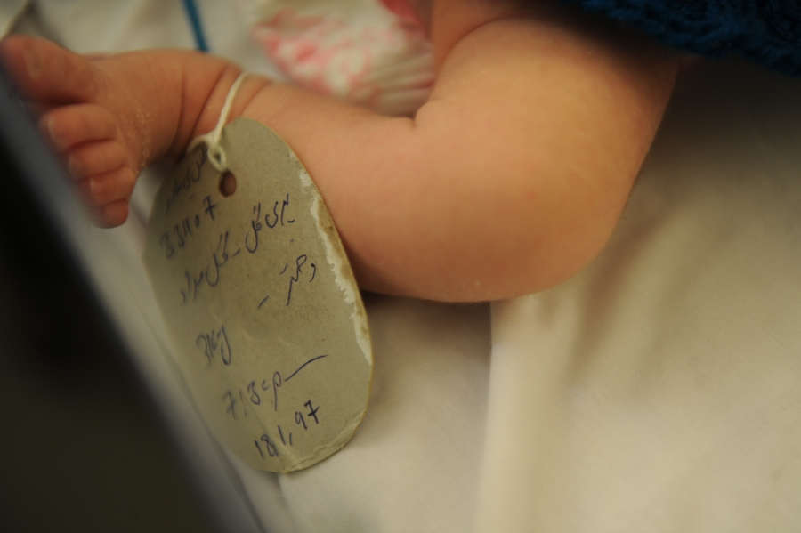 A newborn at the Malalai Maternity Hospital in Kabul, Afghanistan.