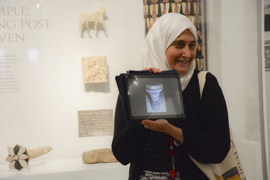 Penn Museum global guide Moumena Saradar came to the US as a Syrian refugee two years ago.