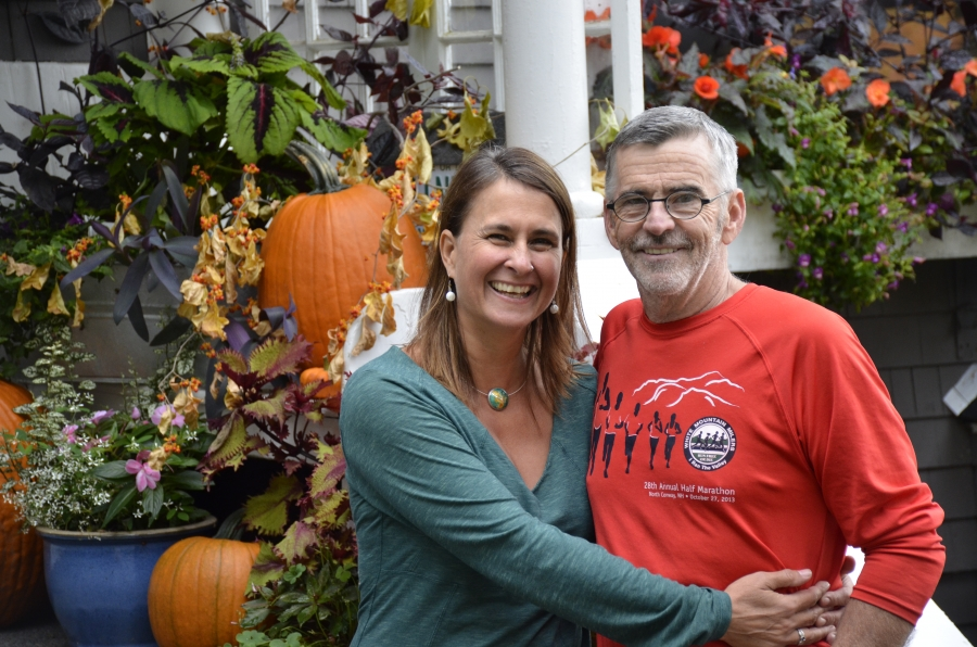 Jen Kovach and Kevin Flynn, co-owners of the 17-room Snowvillage Inn, located in Eaton, New Hampshire. The main lodge was a New England country house built in 1902.