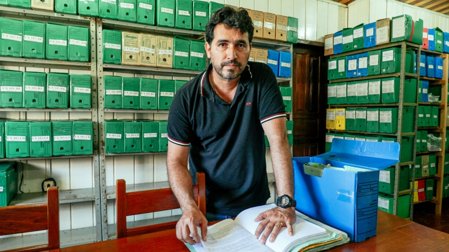 The office of Environmental protection officer Evandro Carlos Selva in Humaitá, Brazil is stuffed with boxes full of fines for illegal logging, most of which, he says, were never paid.