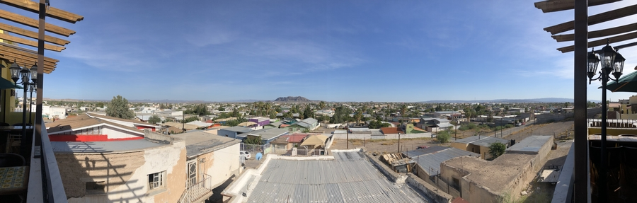 a panoramic view of Ojinaga, Mexico