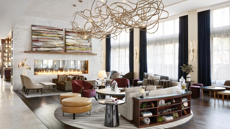 The Lobby Of Sophy Hotel Located In Hyde Park Neighborhood Chicago Interior