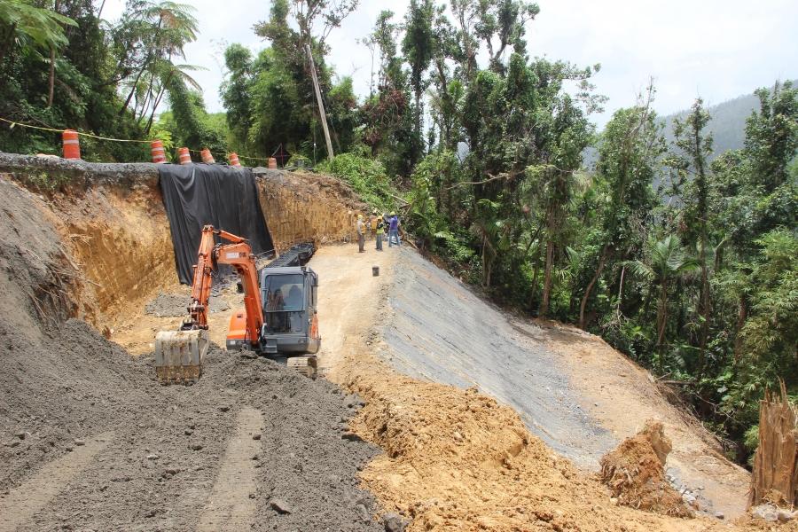 Rebuilding a landslide