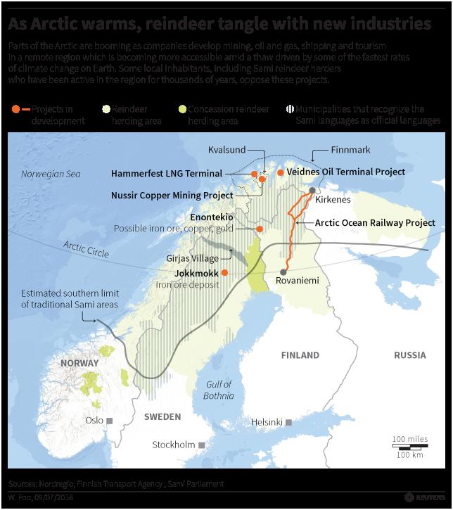 Sami threats map