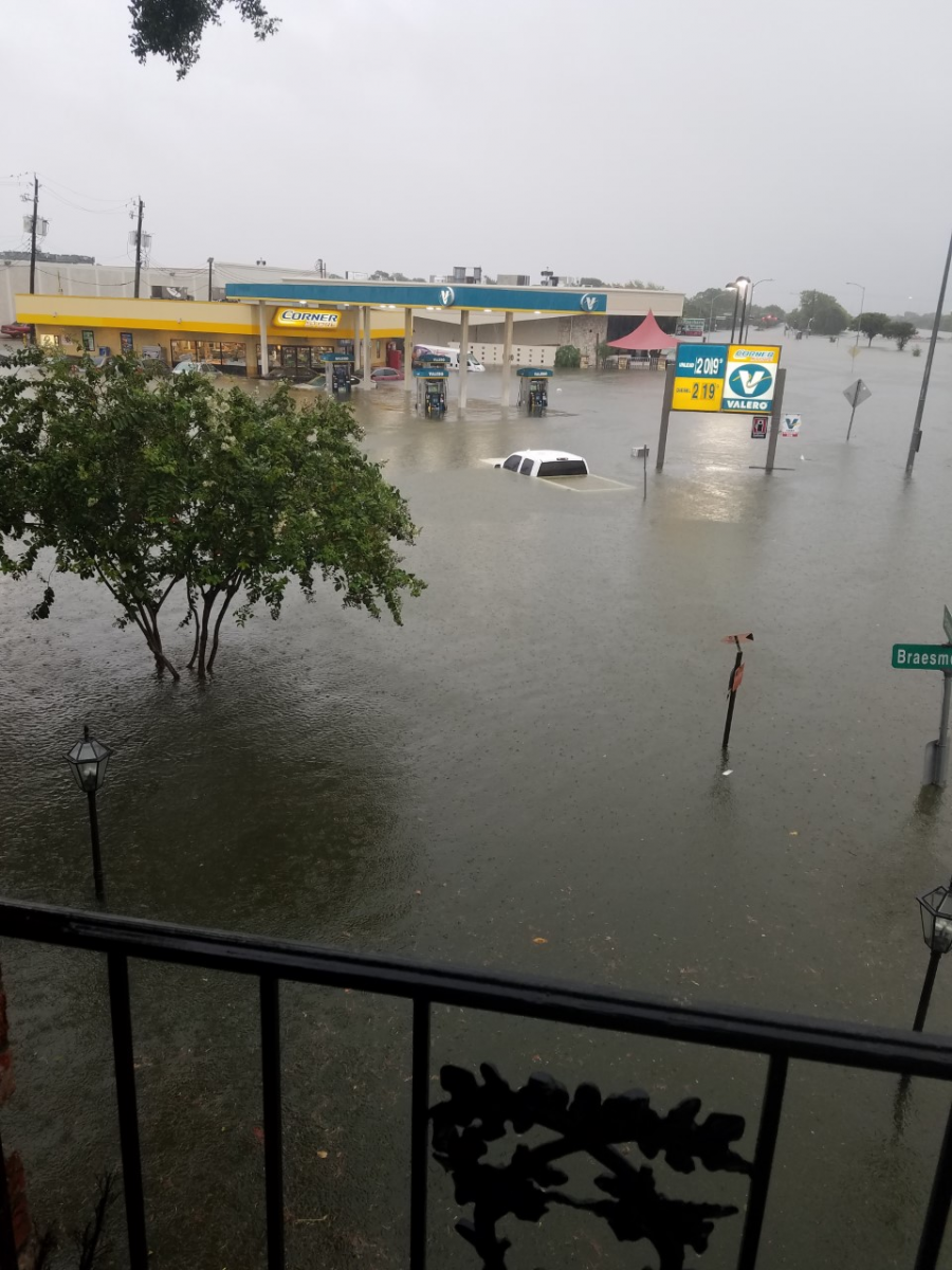 The Houston neighborhood of Meyerland during Hurricane Harvey.