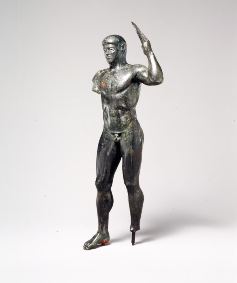 Bronze diskos thrower, 480-460 B.C.