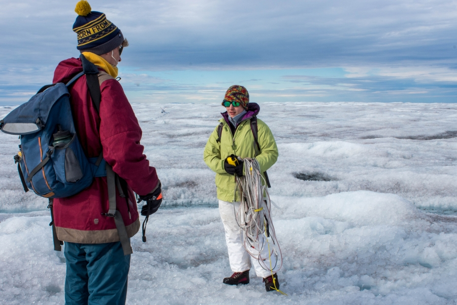 University of Montana glaciologist Joel Harper's students are working on mapping the ice sheet bed with radar.
