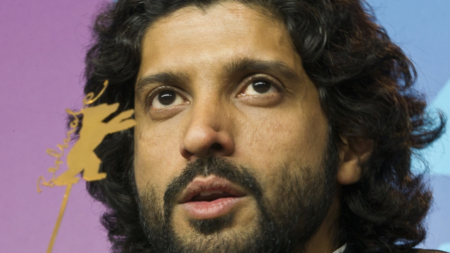 Up-close portrait of Director Farhan Akhtar.
