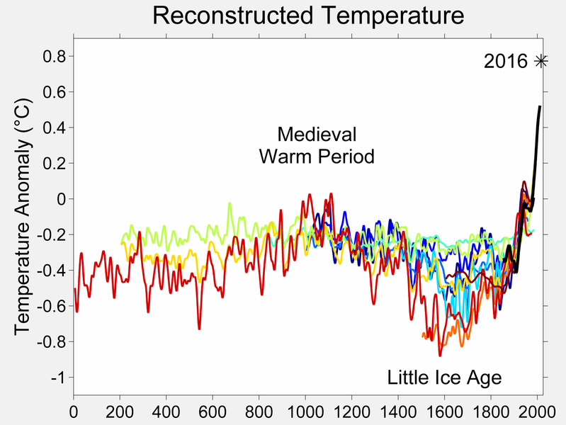 A graph showing temperature over time