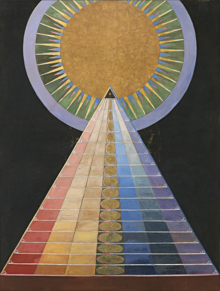 "Hilma af Klint, ""Group X, No. 1, Altarpiece (Grupp X, nr 1, Altarbild),"" 1915 from ""Altarpieces (Altarbilder)."""