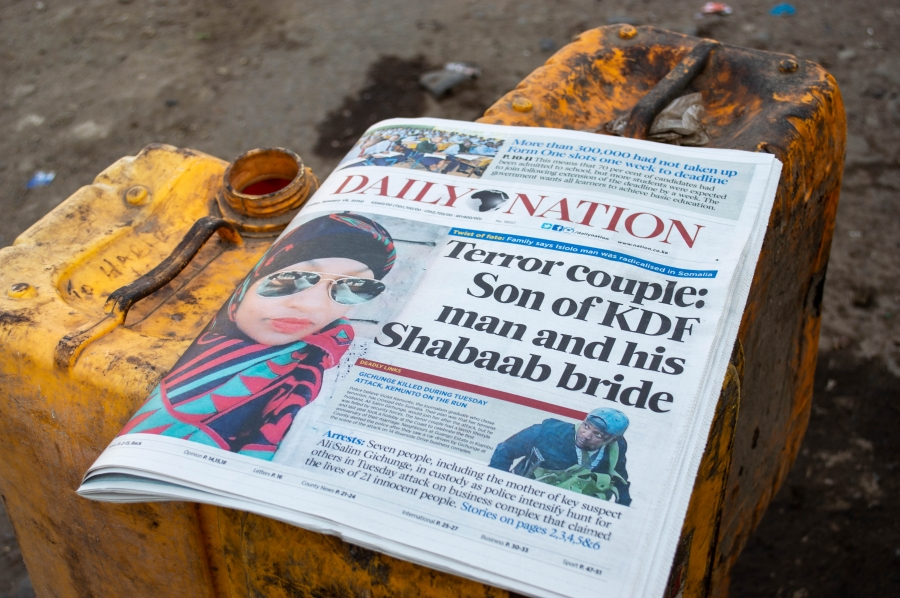 Newspaper headlines in Kenyan newspaper talk about al-Shabab