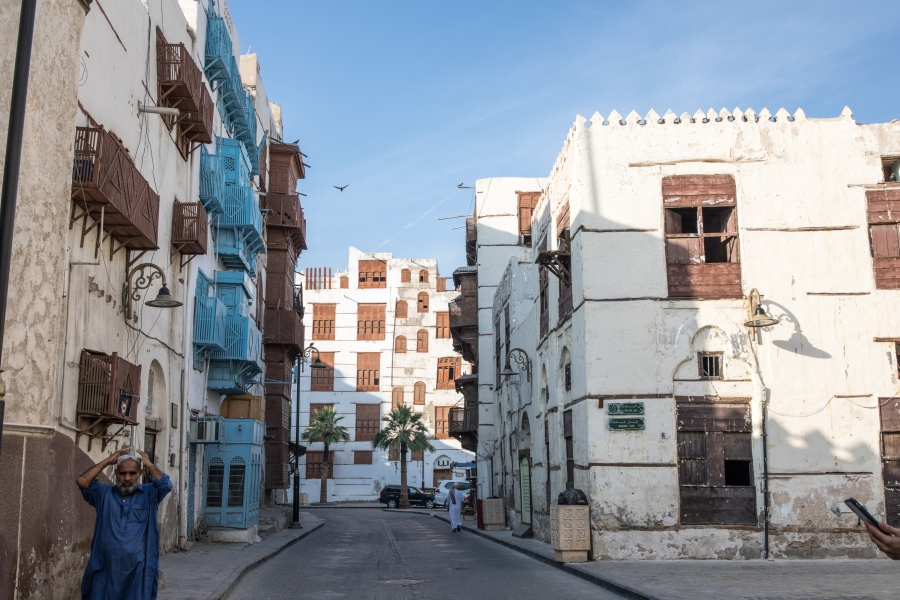 Al-Balad, the historical part of Jeddah, Saudi Arabia, is one location authorities are hoping more tourists visit.
