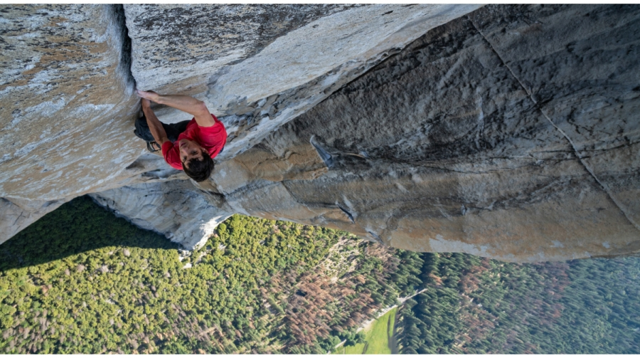 Alex Honnold climbs in Yosemite National Park