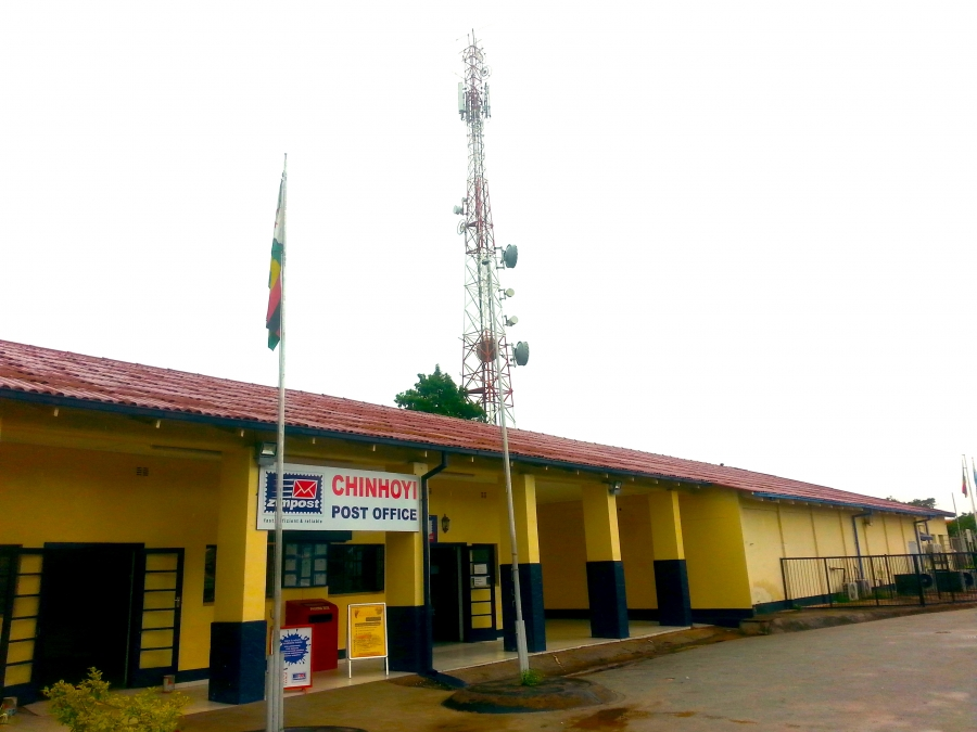 The post office with cell towers.