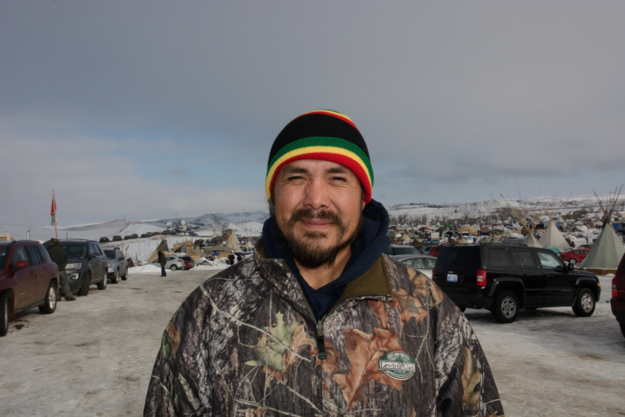 "John Shirley, a Navajo veteran who fought in the first Iraq war, arrived in Standing Rock last week to serve as a ""human shield."""