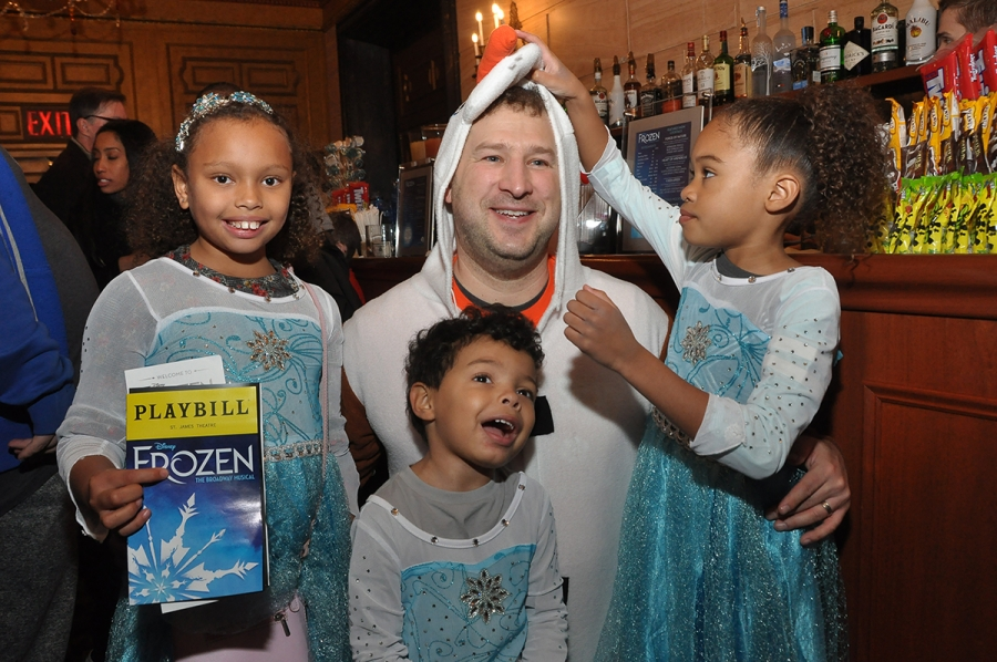 """Audience members at the autism-friendly performance of """"Frozen"""" on Broadway."""