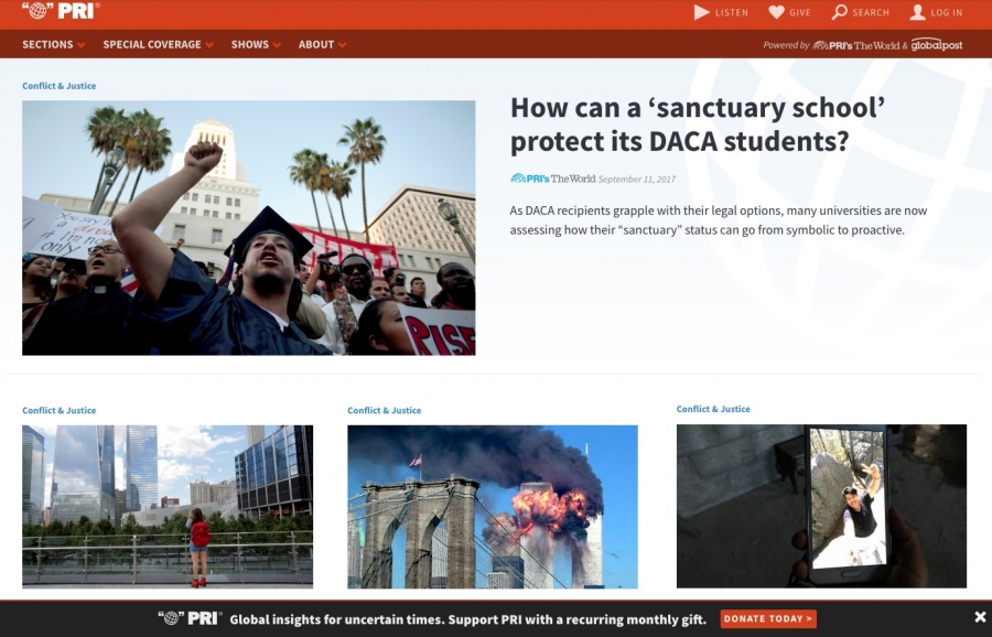 The World's website in 2017 featured a story about DACA recipients.