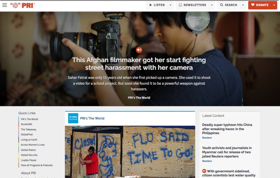 The World's website in 2018 featured a story about a filmmaker in Afghanistan.